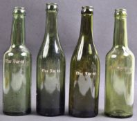 COLLECTION OF X4 GERMAN THIRD REICH SS BEER BOTTLES