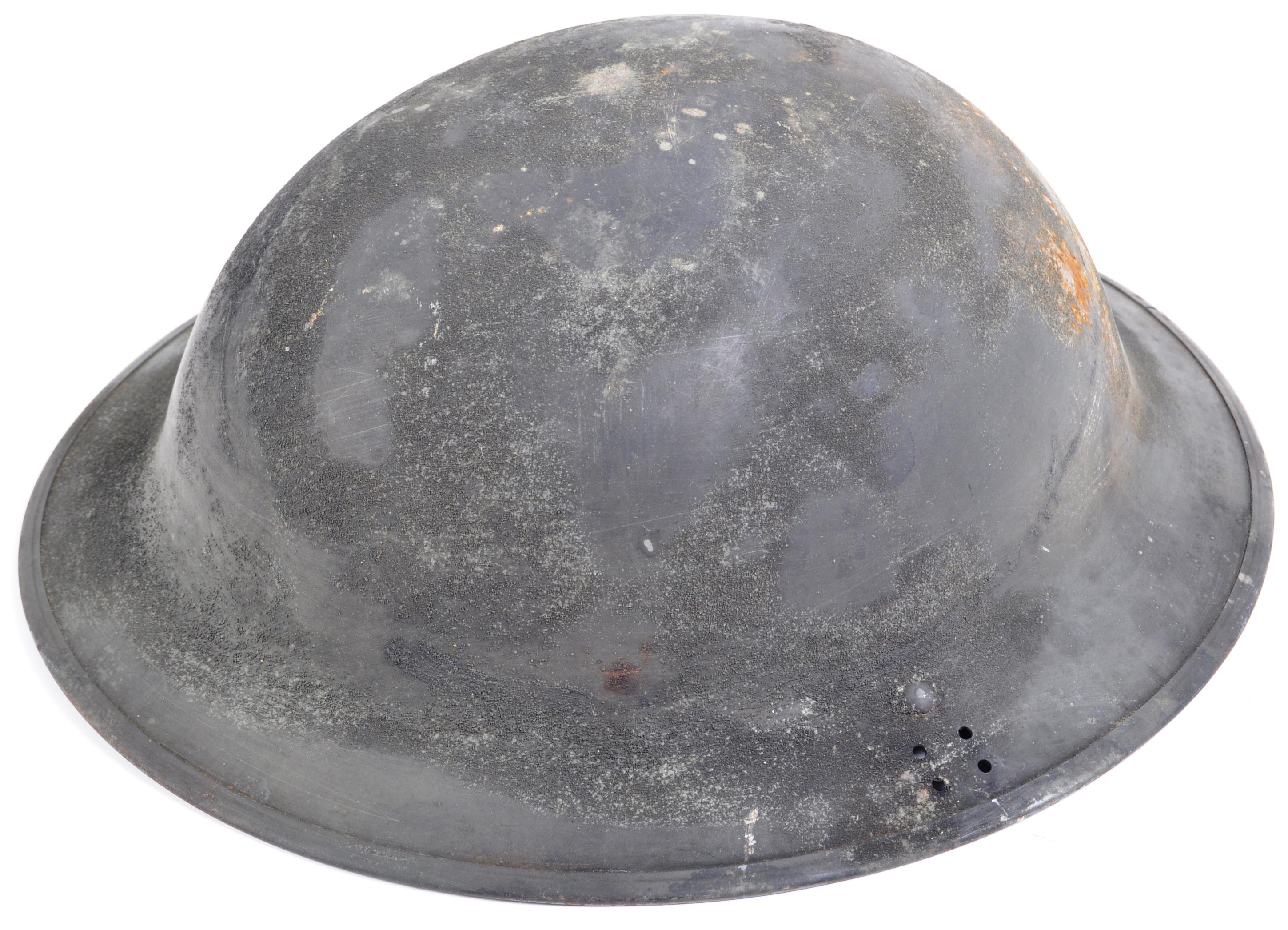 WWII SECOND WORLD WAR ROYAL NAVY BRODIE HELMET & SHIRT - Image 4 of 11