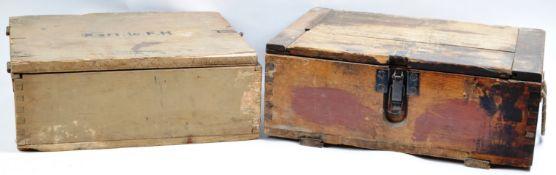 WWII SECOND WORLD WAR ORIGINAL GERMAN AMMO BOXES / CRATES