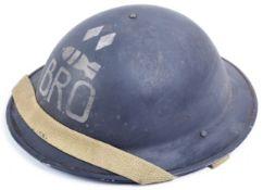 WWII SECOND WORLD WAR 1941 DATED STEEL BRODIE HELMET