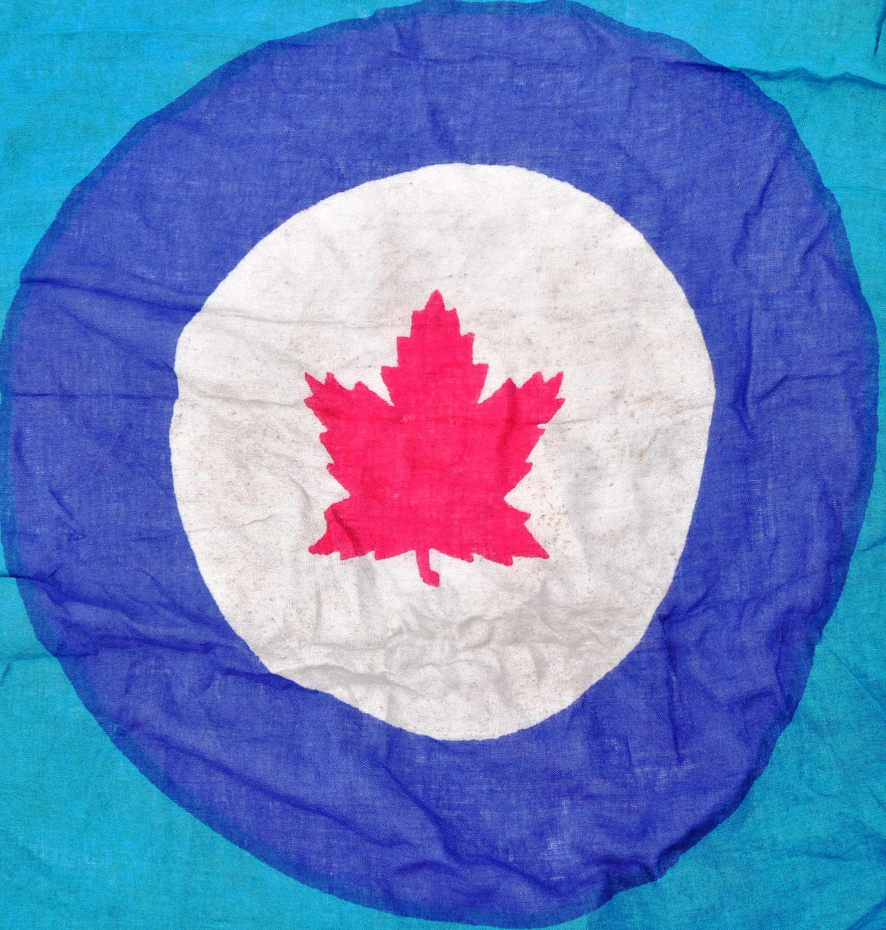 WWII SECOND WORLD WAR TYPE RCAF CANADIAN AIR FORCE BASE FLAG - Image 6 of 7