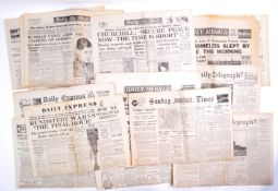 WWII SECOND WORLD WAR PERIOD NEWSPAPERS