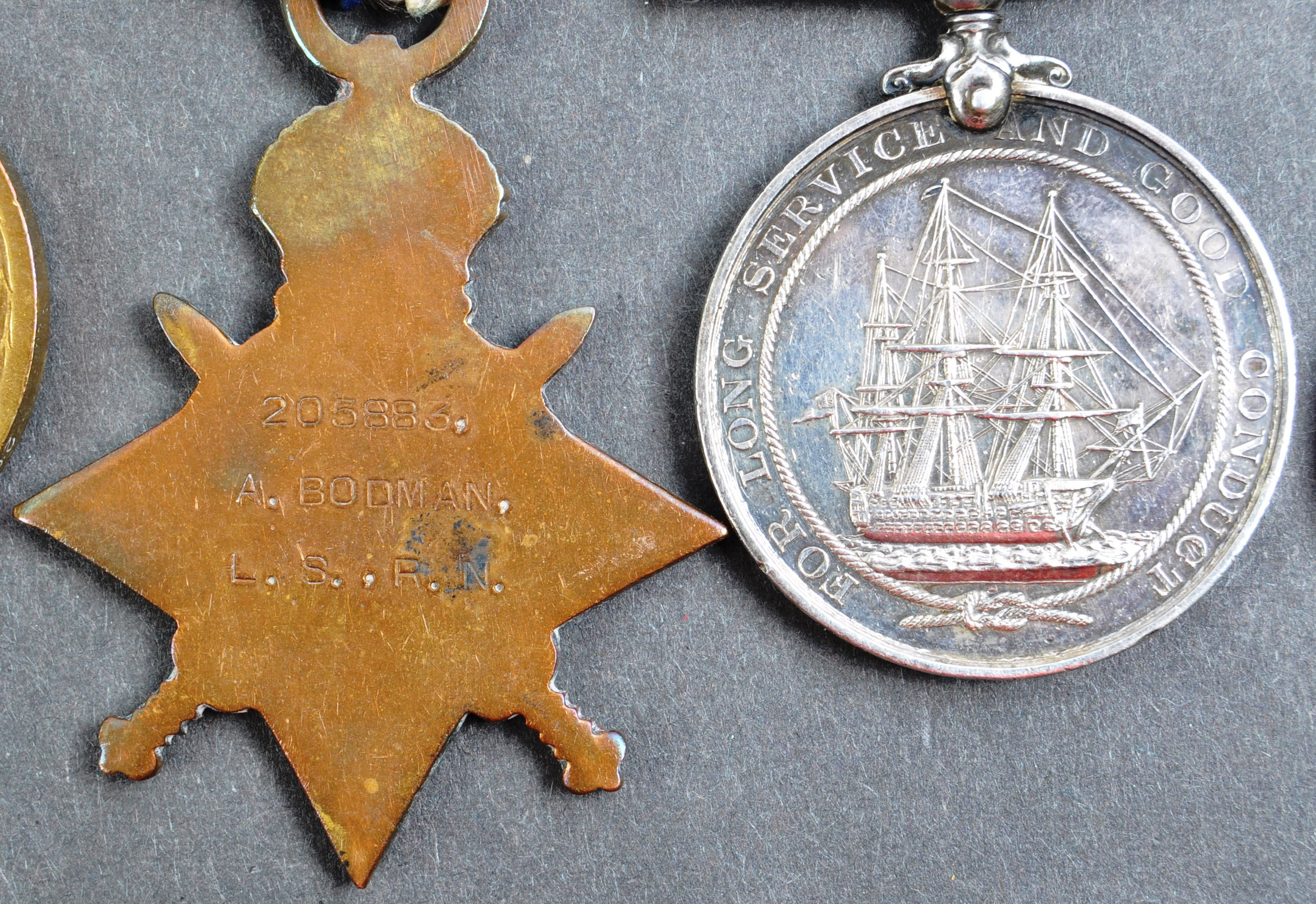 WWI FIRST WORLD WAR MEDAL GROUP - LEADING SEAMAN ROYAL NAVY - Image 6 of 10
