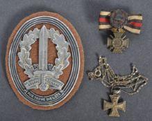 WWI FIRST WORLD WAR GERMAN MINIATURE MEDALS - IRON