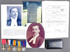 WWI FIRST WORLD WAR CANADIAN MEDAL GROUP INC MBE