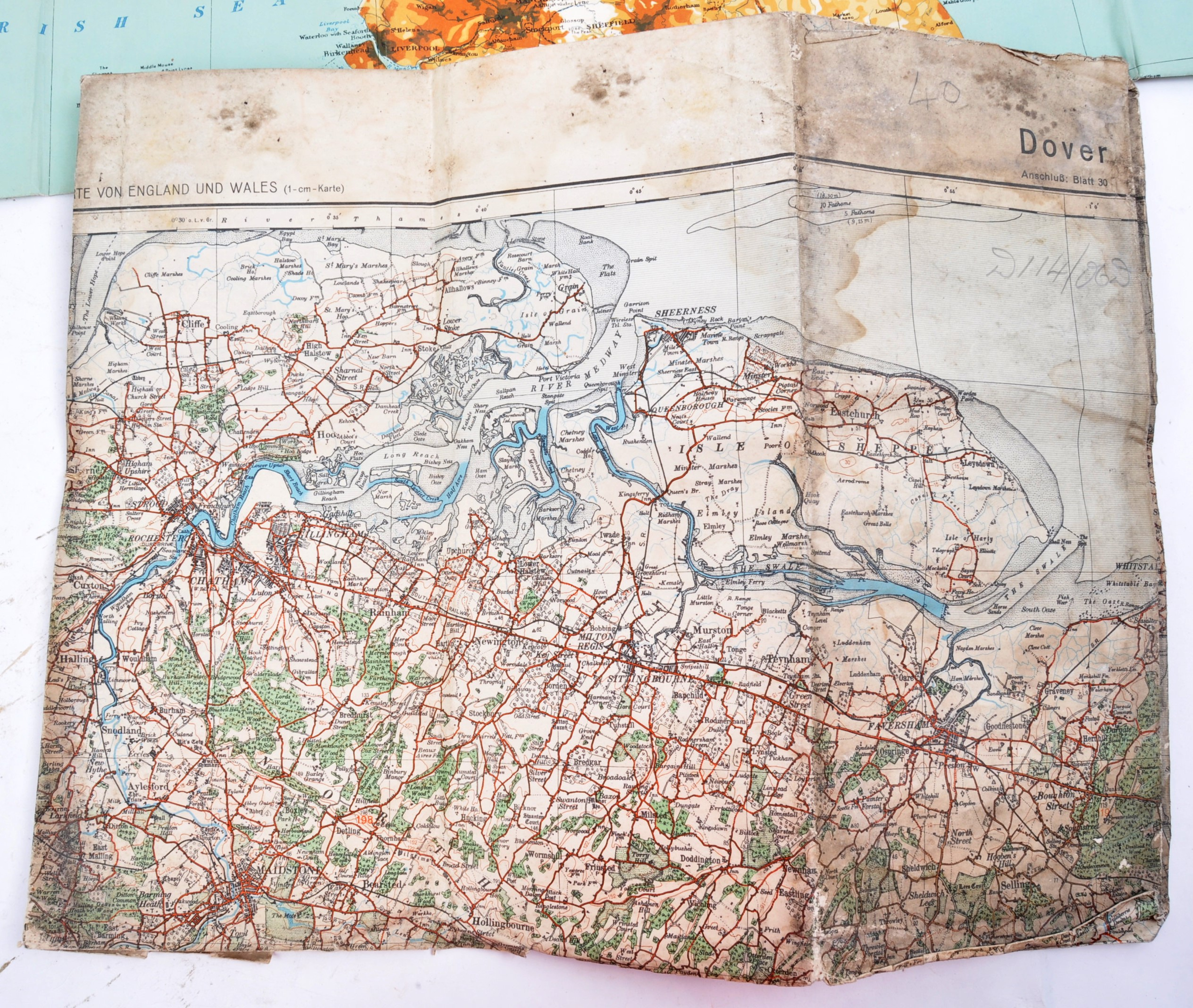 COLLECTION OF X6 ASSORTED WWII GERMAN ARMY MAPS - Image 5 of 10