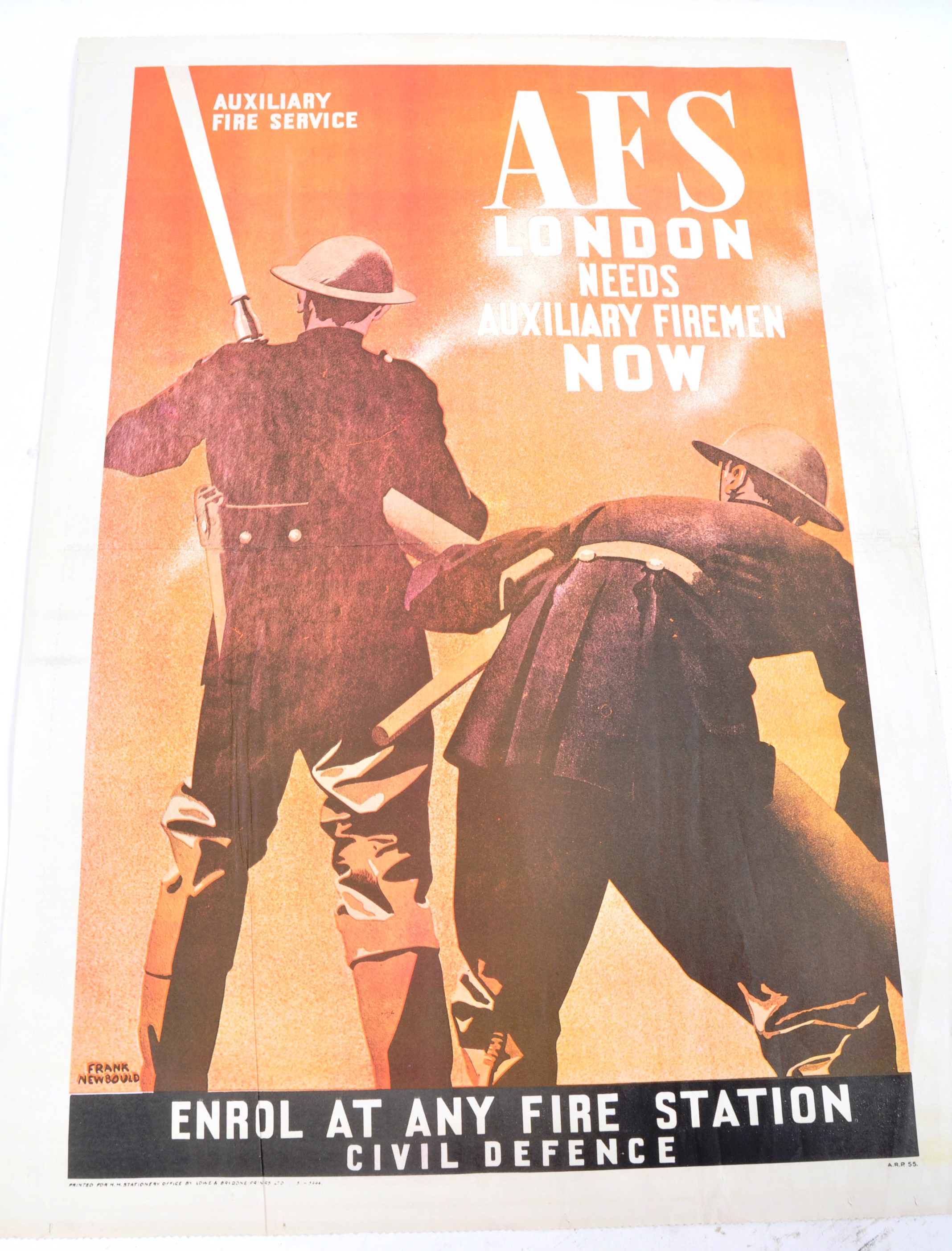 WWII SECOND WORLD WAR POSTERS - CHURCHILL, AFS, HOME FRONT ETC - Image 5 of 6