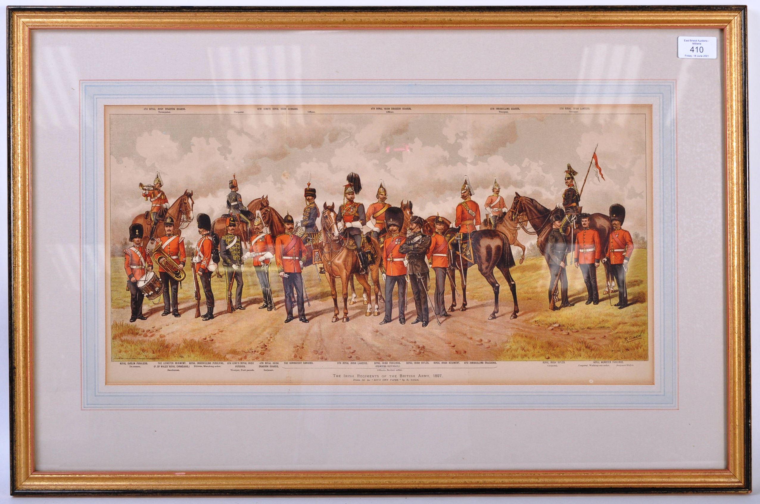 RICHARD SIMKIN - THE IRISH REGIMENTS OF THE BRITISH ARMY