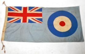 LARGE ORIGINAL WWII RAF ROYAL AIR FORCE ENSIGN FLAG