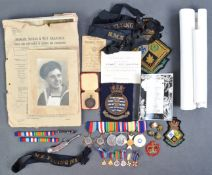 WWII SECOND WORLD WAR MEDAL GROUP & ARCHIVE OF EFFECTS