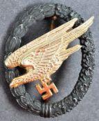 WWII SECOND WORLD WAR GERMAN THIRD REICH PARATROOPER BADGE