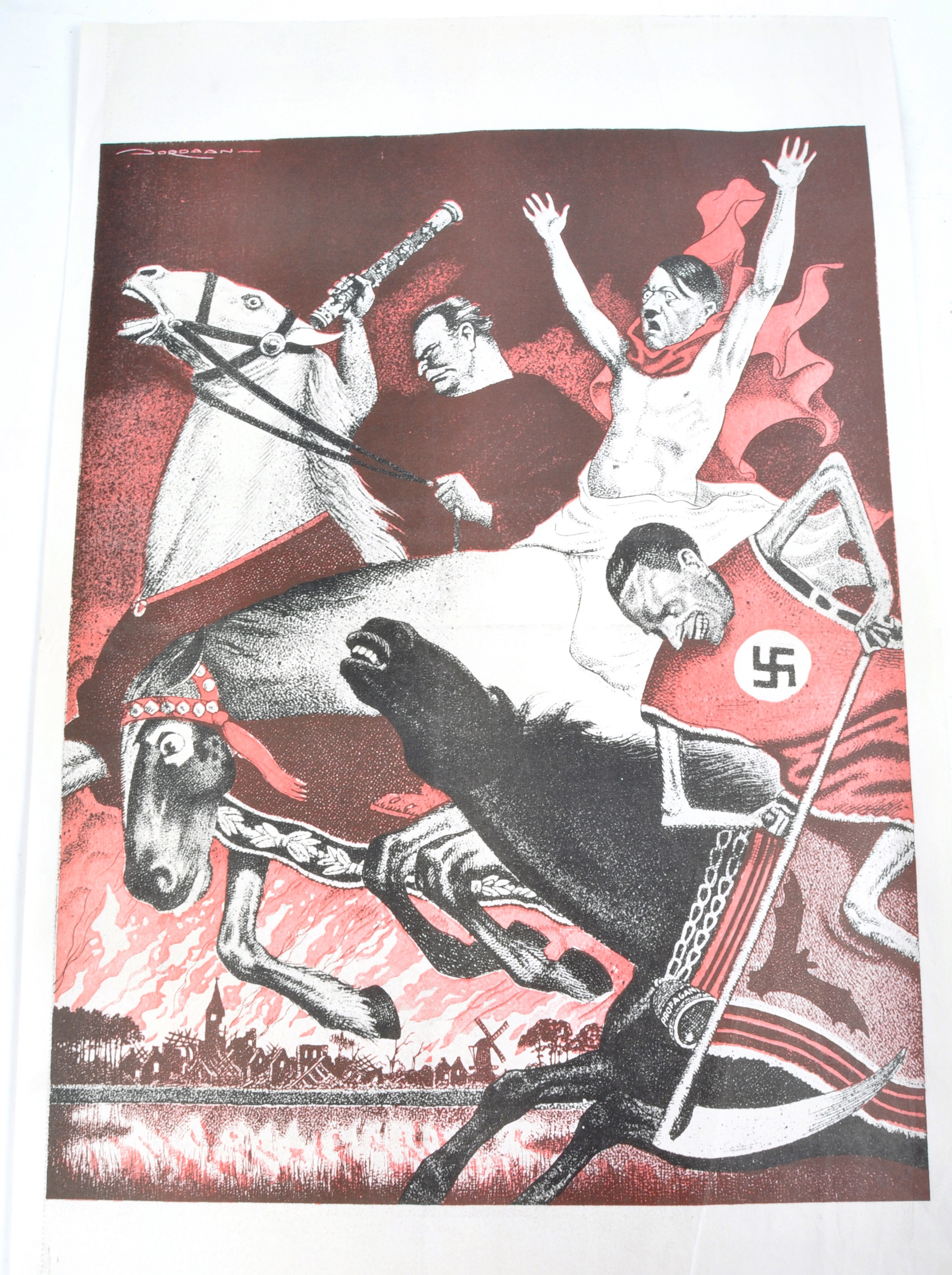 WWII SECOND WORLD WAR POSTERS - ENGLISH, GERMAN & OTHERS - Image 5 of 8