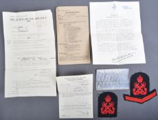 WWII ROYAL AIR FORCE - CARDINGTON HALL (BALLOONS) INTEREST COLLECTION