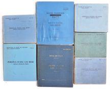 WWII SECOND WORLD WAR - COMPLETE SET OF PILOT'S LOGBOOKS (7)