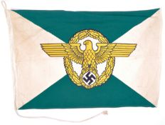 WWII SECOND WORLD WAR INTEREST - GERMAN POLICE FLAG