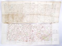 WWI FIRST WORLD WAR MAPS - TRENCH MAP & ANOTHER