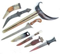 COLLECTION OF X4 ASSORTED ETHNIC AND TRIBAL DAGGERS