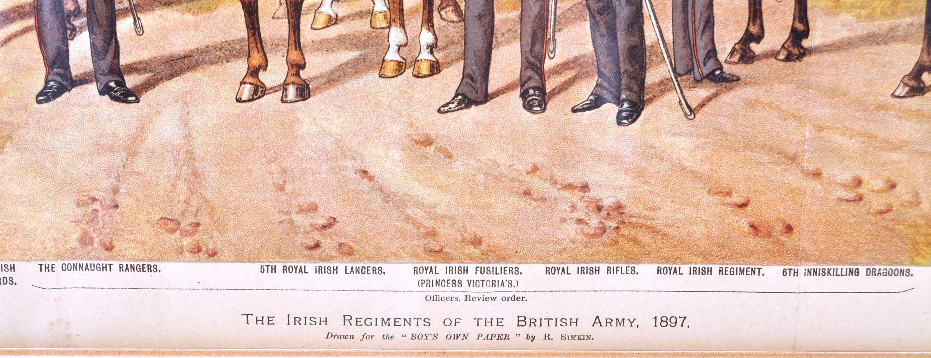 RICHARD SIMKIN - THE IRISH REGIMENTS OF THE BRITISH ARMY - Image 5 of 7