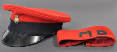 ROYAL ARMY ORDNANCE CORP CAP & MILITARY POLICE ARMBAND