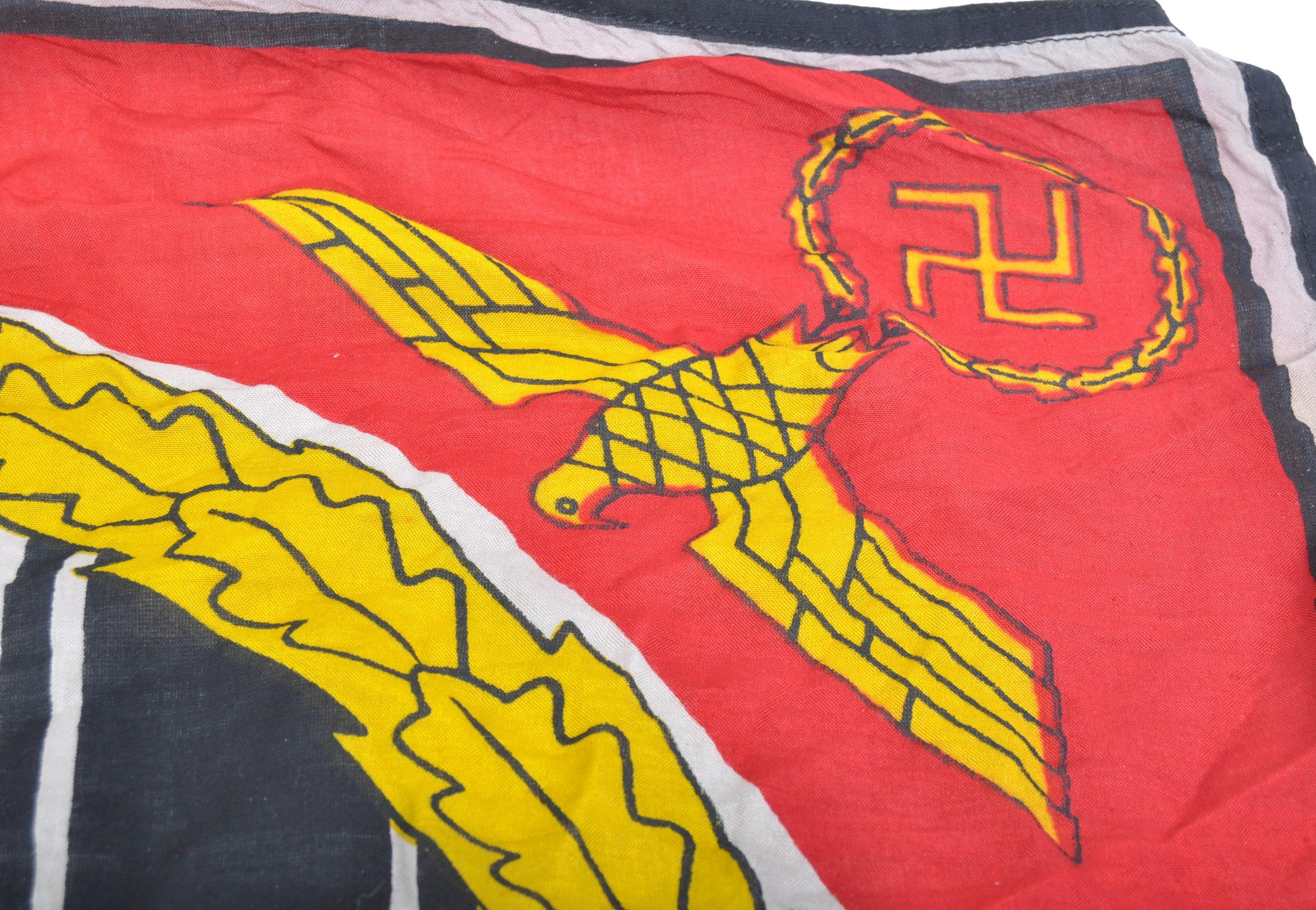 WWII SECOND WORLD WAR FUHRER STANDARD LINEN FLAG - Image 5 of 6