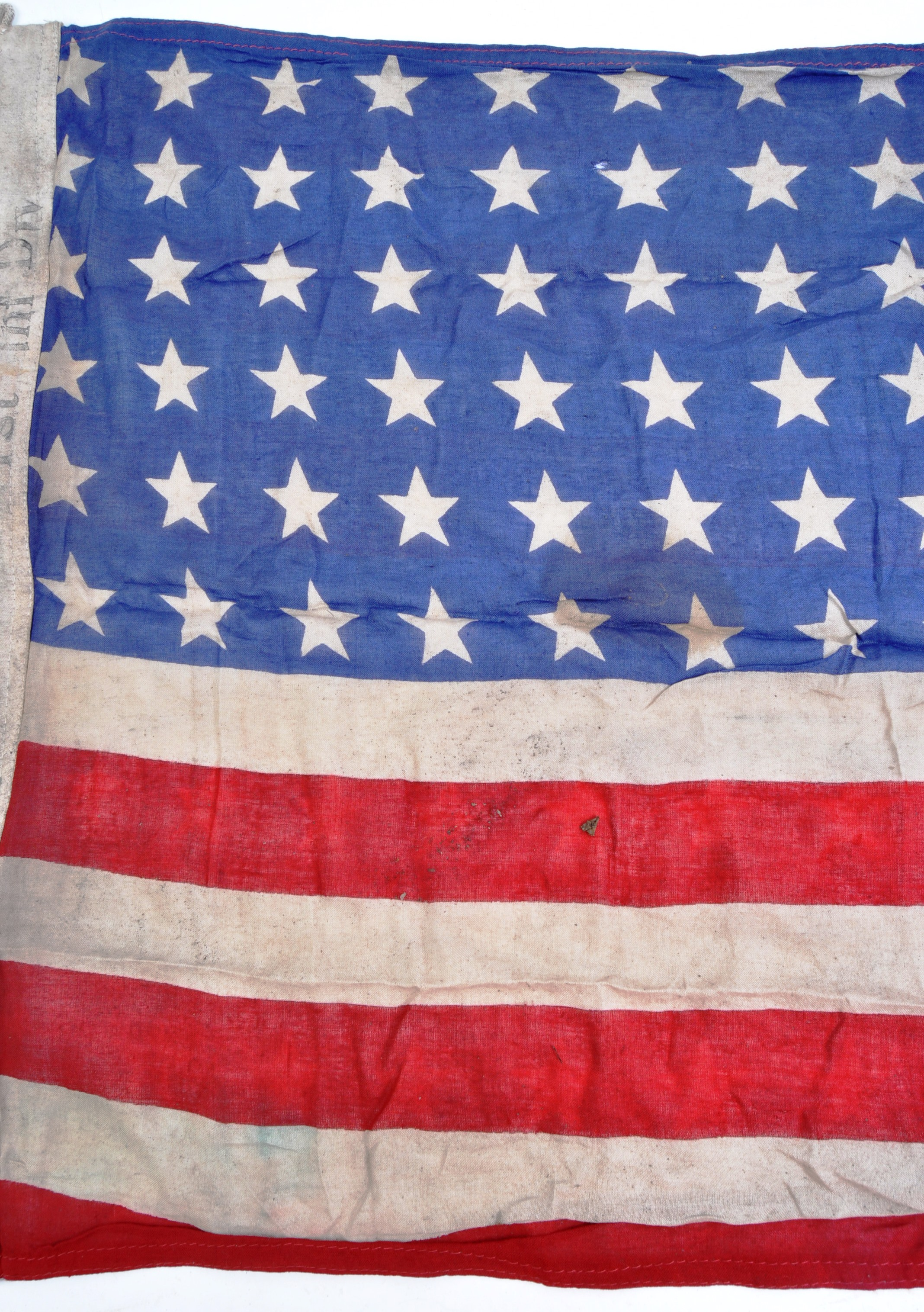 WWII SECOND WORLD WAR INTEREST FLAG - 1942 US ARMY DATED - Image 6 of 7