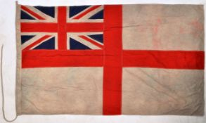 WWII SECOND WORLD WAR LARGE ROYAL NAVY WHITE ENSIGN