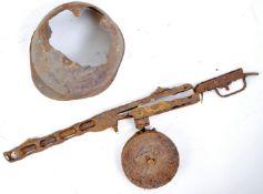 WWII EASTERN FRONT RUSSIAN MACHINE GUN & HELMET RELICS
