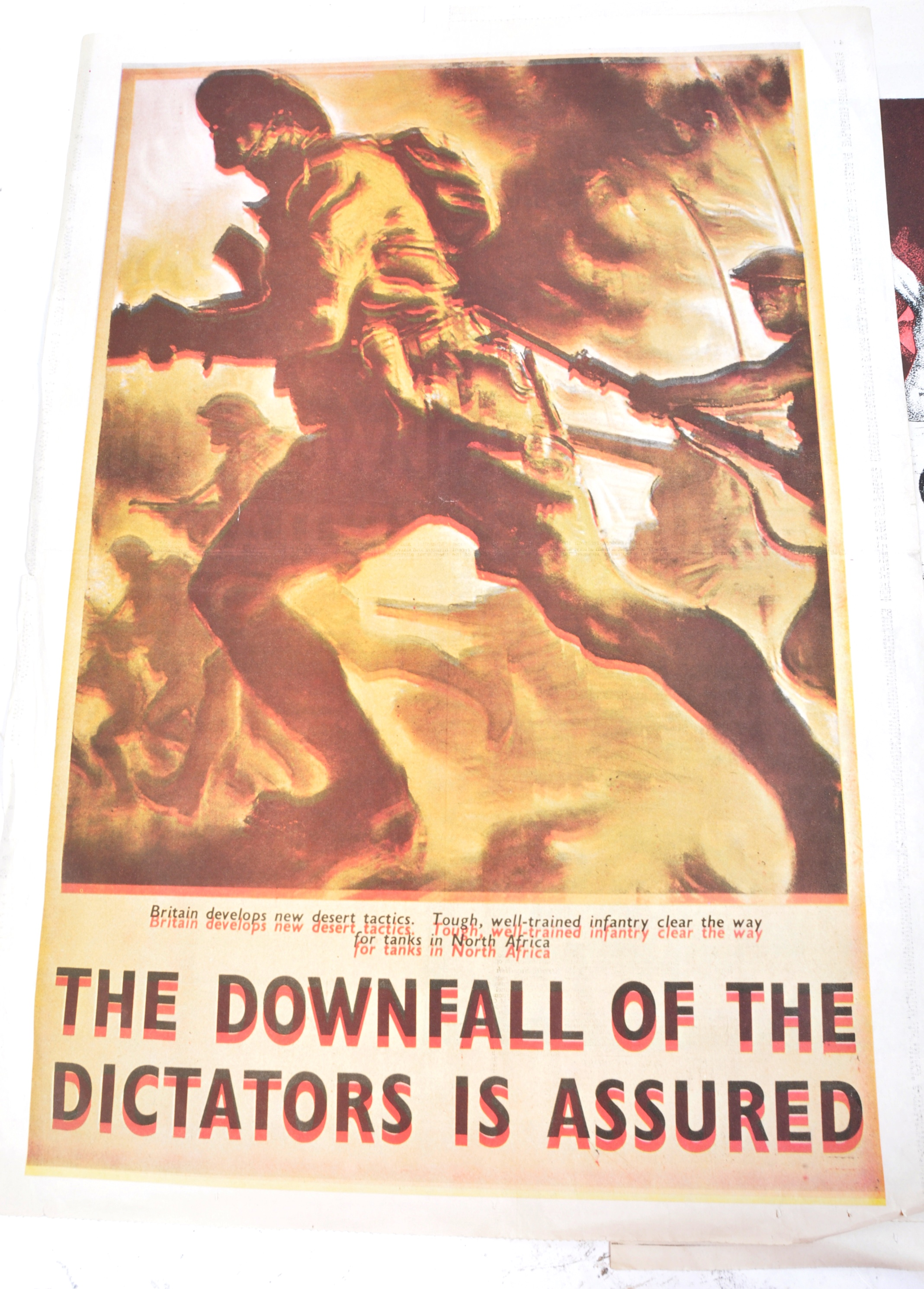 WWII SECOND WORLD WAR POSTERS - ENGLISH, GERMAN & OTHERS - Image 4 of 8