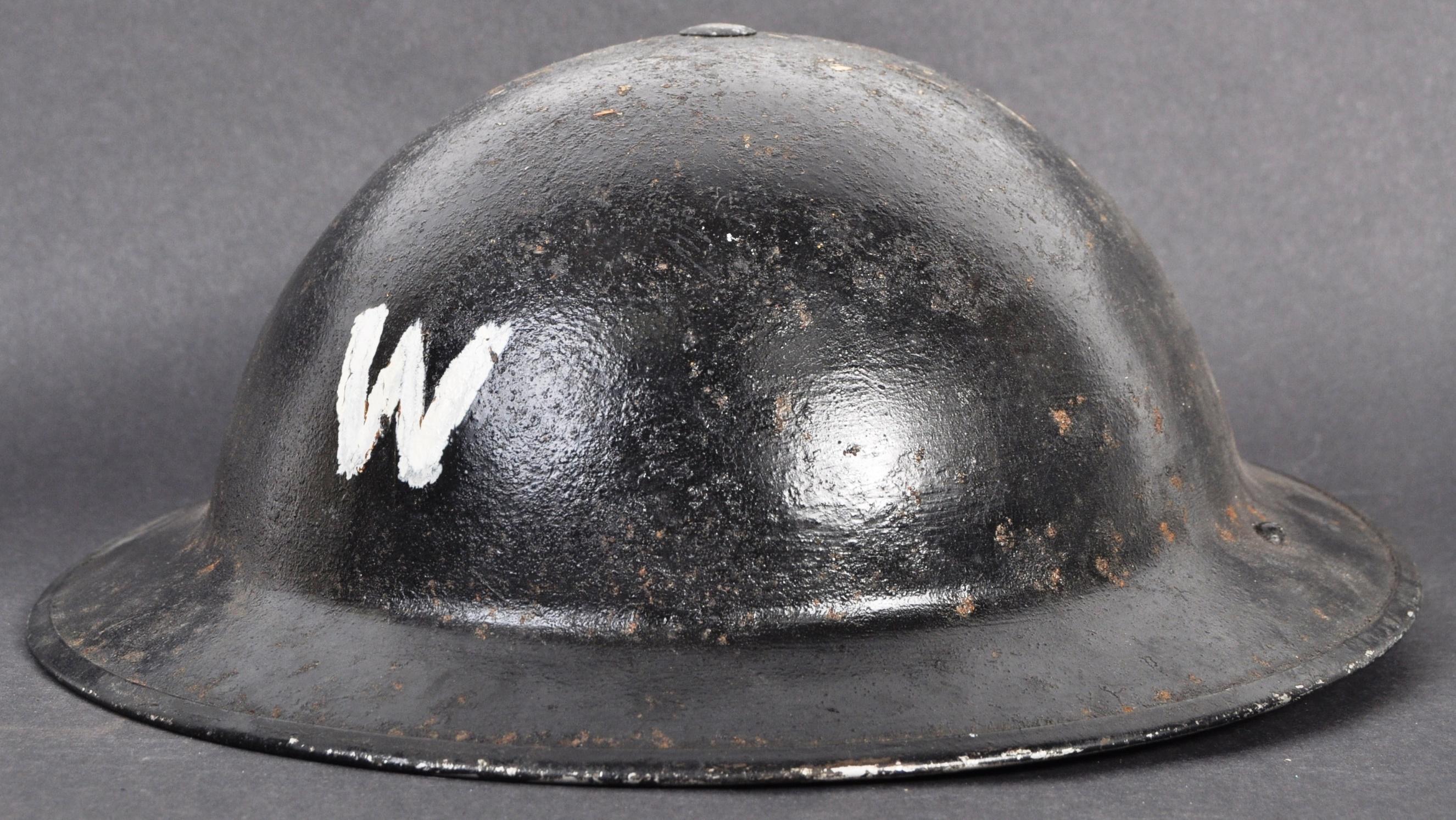 ORIGINAL WWII SECOND WORLD WAR AIR RAID WARDENS BRODIE HELMET