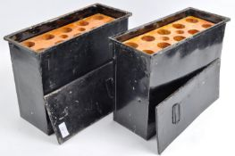 TWO ORIGINAL WWII SECOND WORLD ROYAL NAVY AMMUNITION BOXES