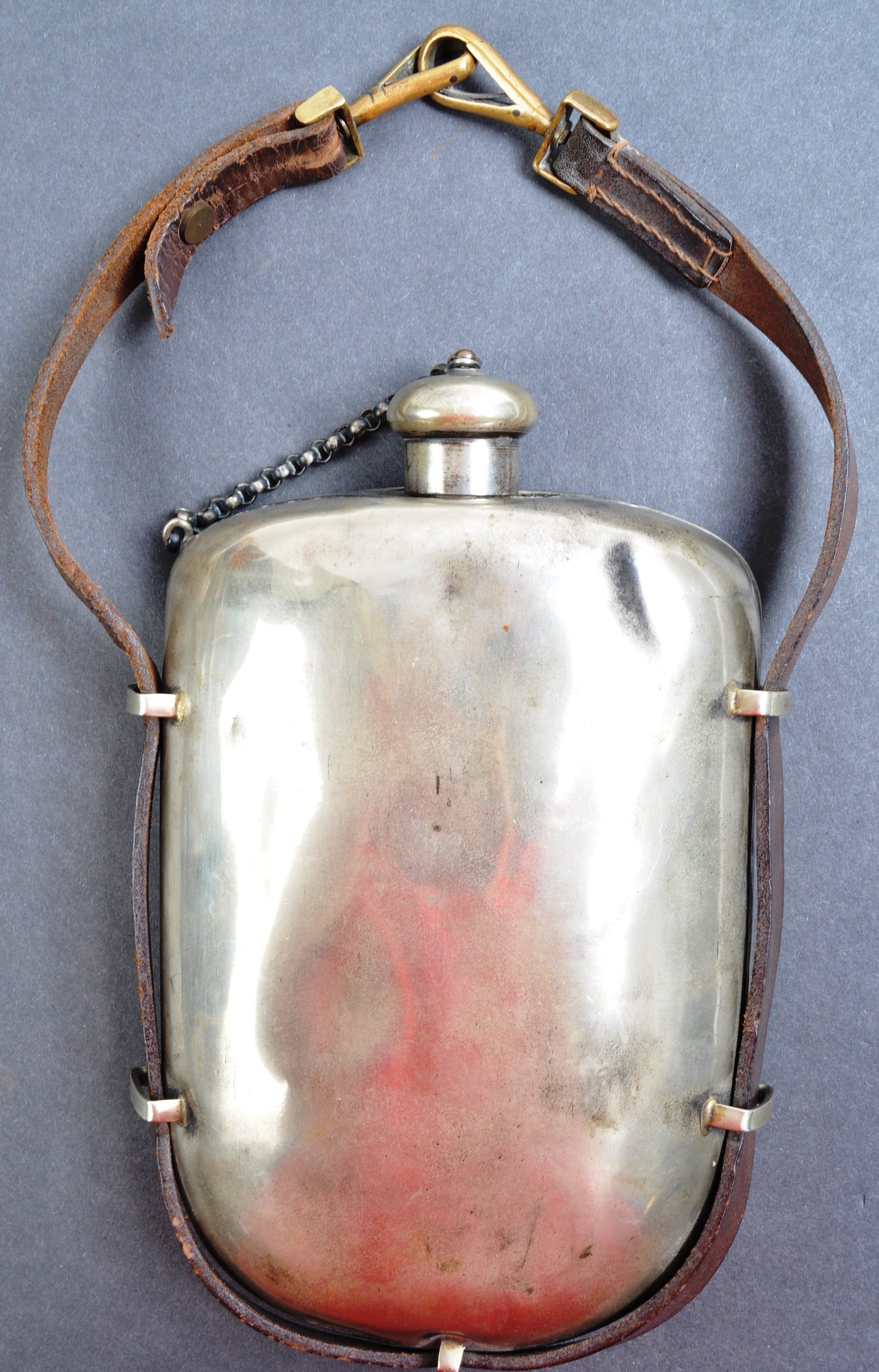 ANTIQUE LATE 19TH CENTURY BOER WAR PRIVATE PURCHASE WATER CANTEEN - Image 2 of 7