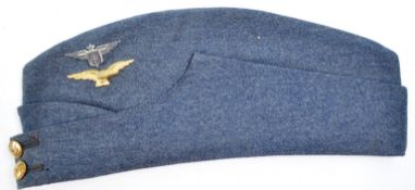 WWII INTEREST ' FREE FRANCE ' BADGED FORAGE CAP
