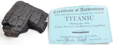 RMS TITANIC - ORIGINAL RECOVERED COAL FROM 1994 EXPEDITION