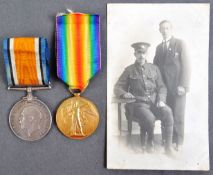 WWI FIRST WORLD WAR MEDAL PAIR - PRIVATE IN ROYAL FUSILIERS
