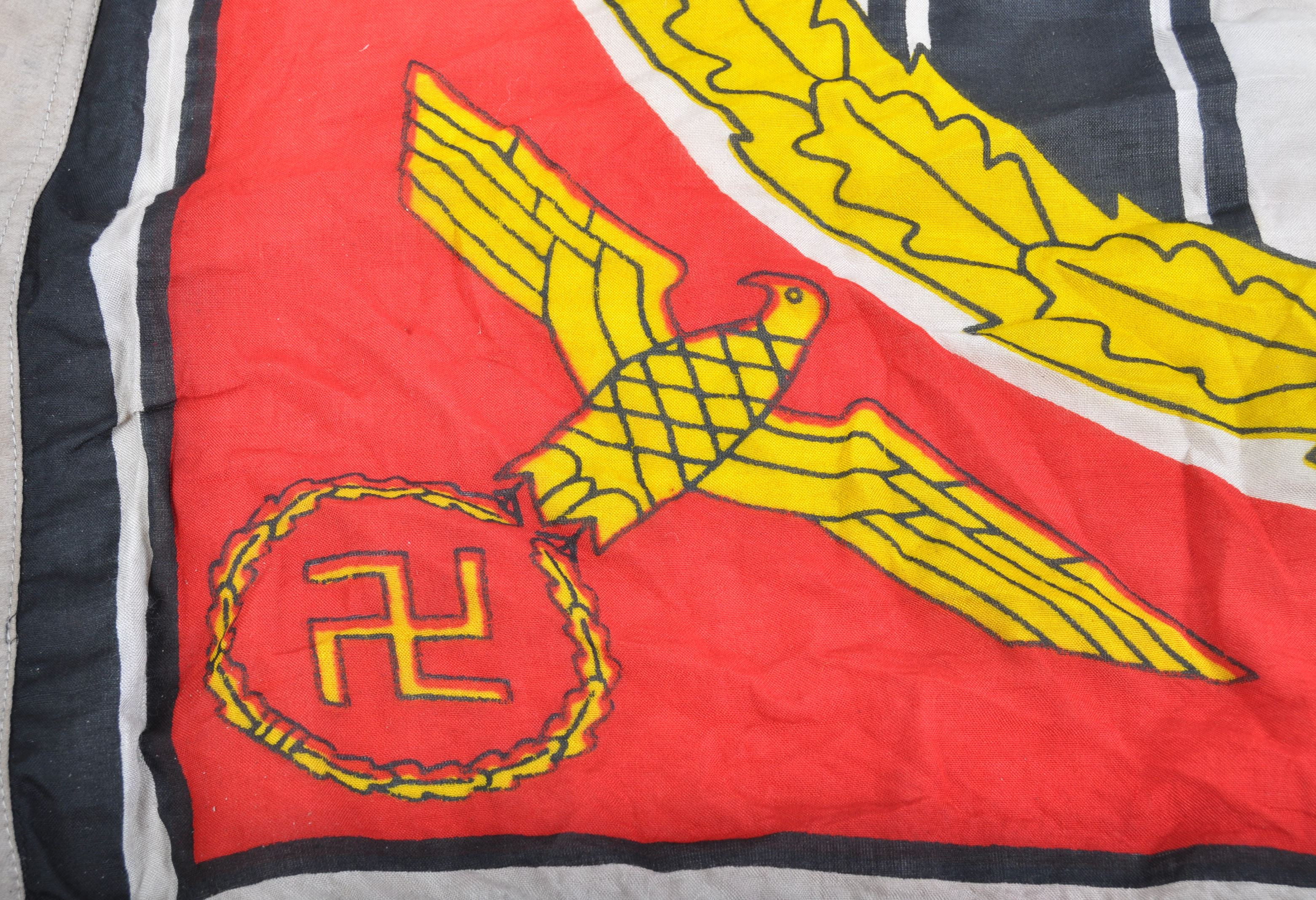 WWII SECOND WORLD WAR FUHRER STANDARD LINEN FLAG - Image 6 of 6