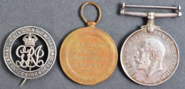 WWI FIRST WORLD WAR MEDAL PAIR TO DRIVER IN ROYAL ARTILLERY