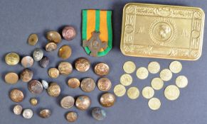 WWI FIRST WORLD WAR PRINCESS MARY GIFT TIN & ASSORTED CONTENTS