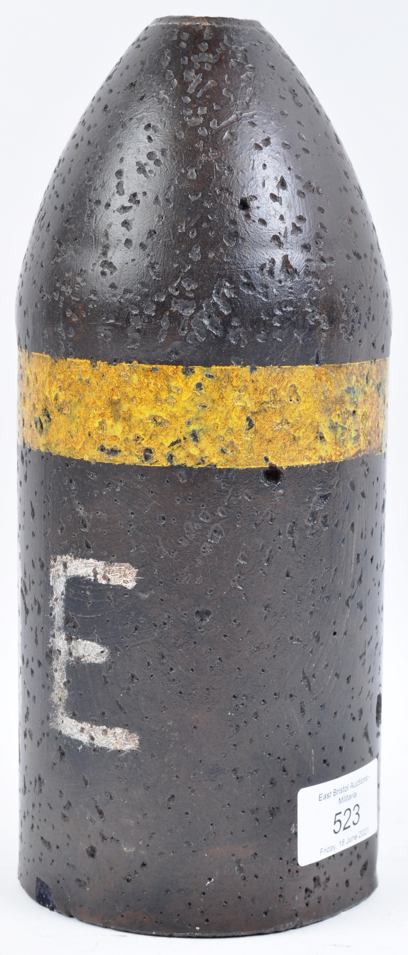 LARGE WWII VINTAGE BRITISH ARMY HIGH EXPLOSIVE PRACTISE ROUND - Image 3 of 5