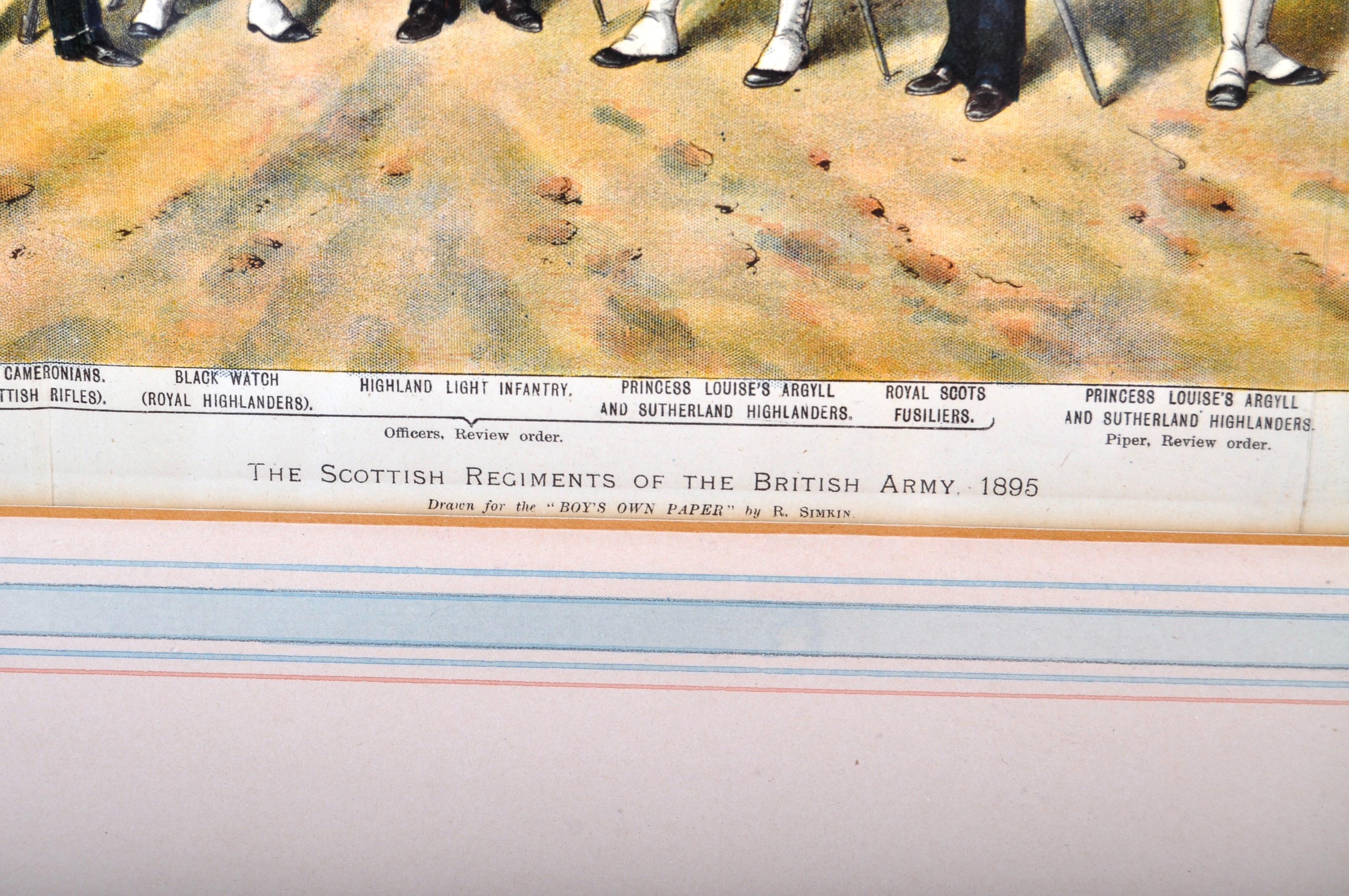 RICHARD SIMKIN - THE SCOTTISH REGIMENTS OF THE BRITISH ARMY - Image 5 of 7