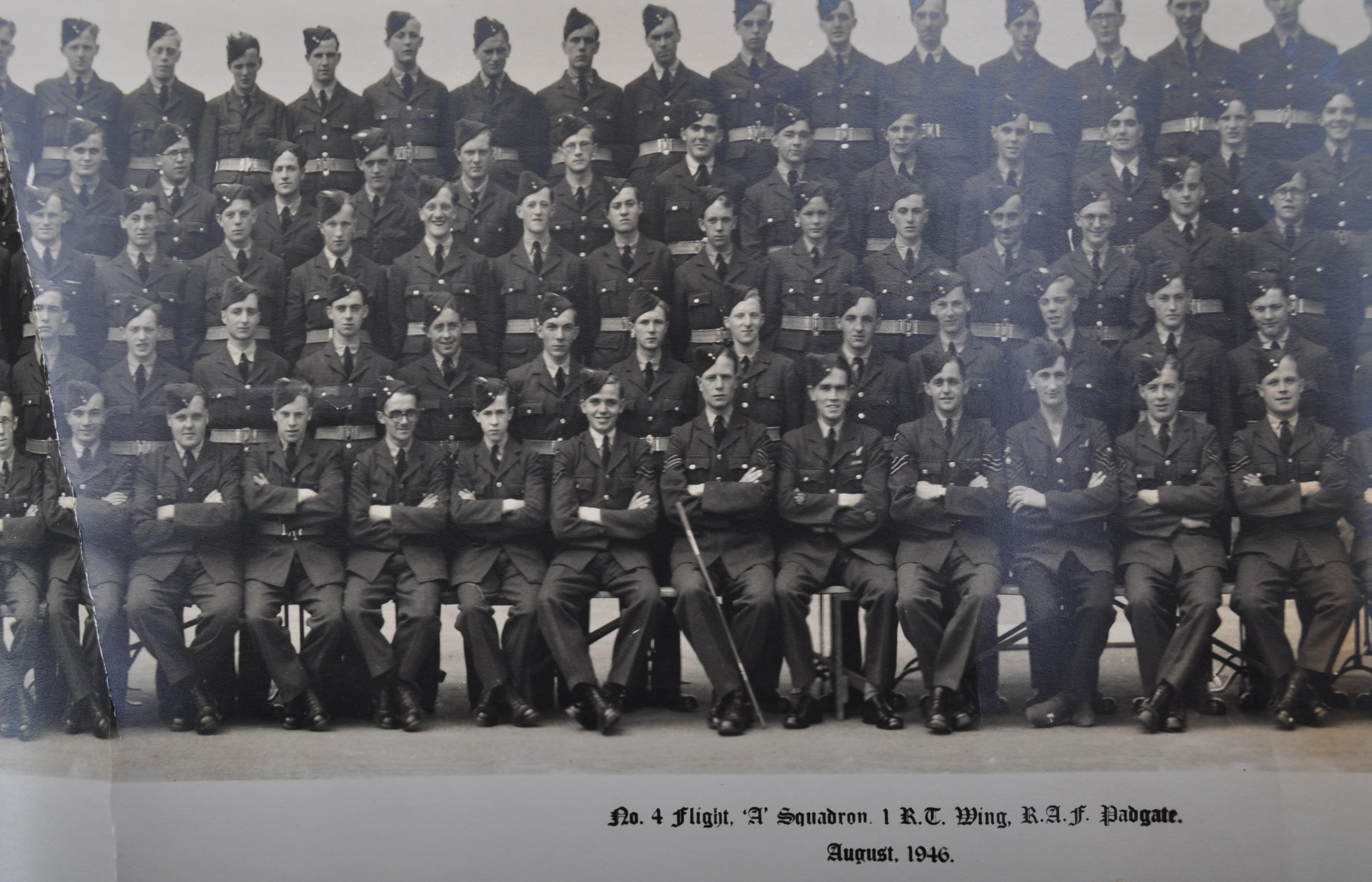 POST-WWII RAF PADGATE - BOB MONKHOUSE - AUTOGRAPHED REGIMENTAL PHOTOGRAPH - Image 4 of 8