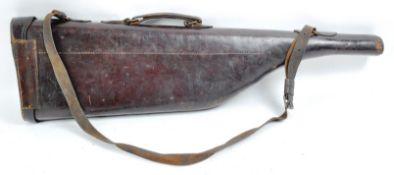 ANTIQUE LATE 19TH CENTURY ' LEG OF MUTTON ' LEATHER GUN CASE