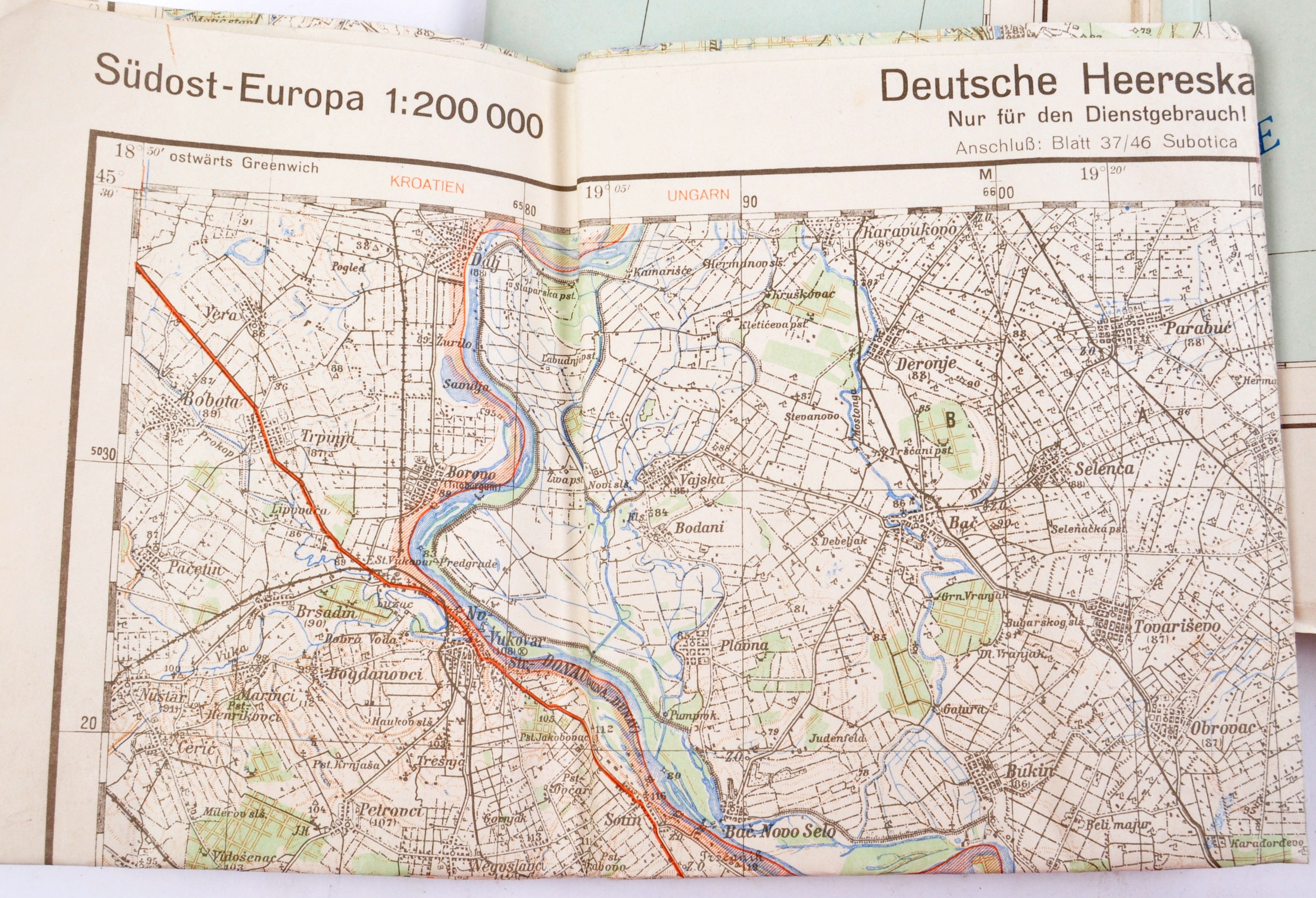 COLLECTION OF X6 ASSORTED WWII GERMAN ARMY MAPS - Image 3 of 10