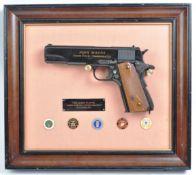 JOHN WAYNE COMMEMORATIVE REPLICA .45 AUTOMATIC HAND GUN