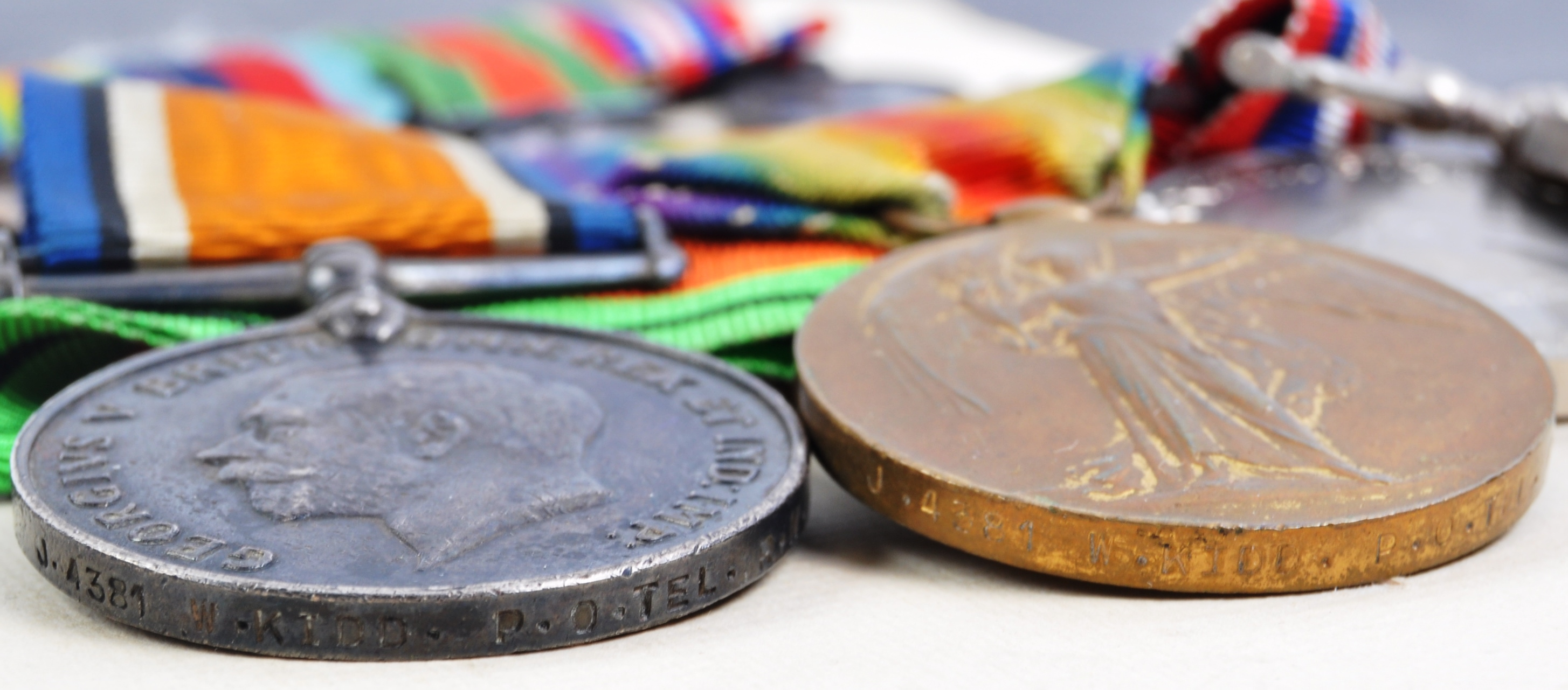 WWI & WWII SECOND WORLD WAR MEDAL GROUP - ROYAL NAVY - Image 3 of 5