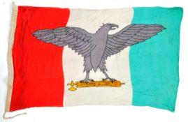 WWII SECOND WORLD WAR TYPE ITALIAN MUSSOLINI UNIT LINEN FLAG