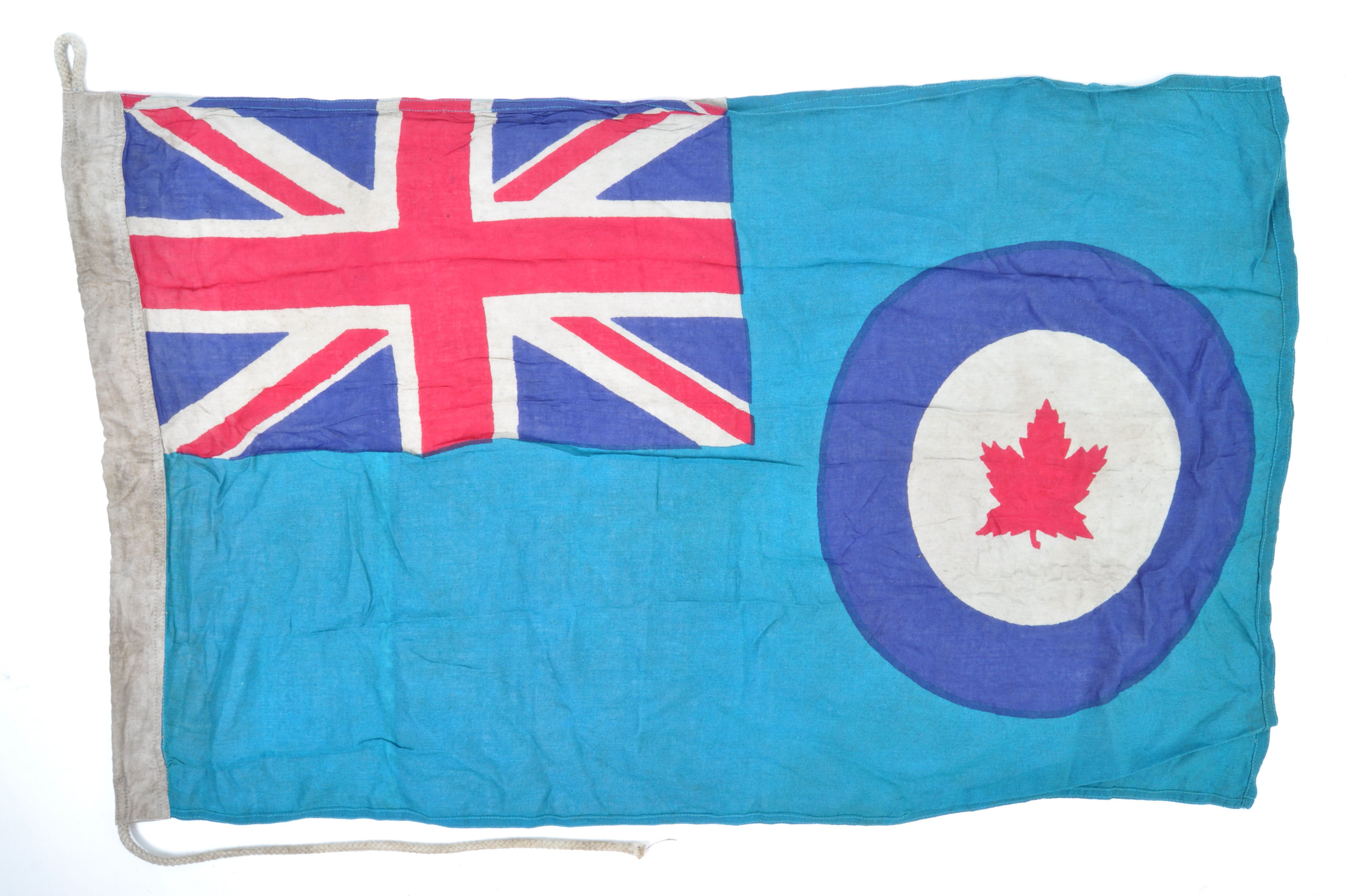 WWII SECOND WORLD WAR TYPE RCAF CANADIAN AIR FORCE BASE FLAG - Image 7 of 7