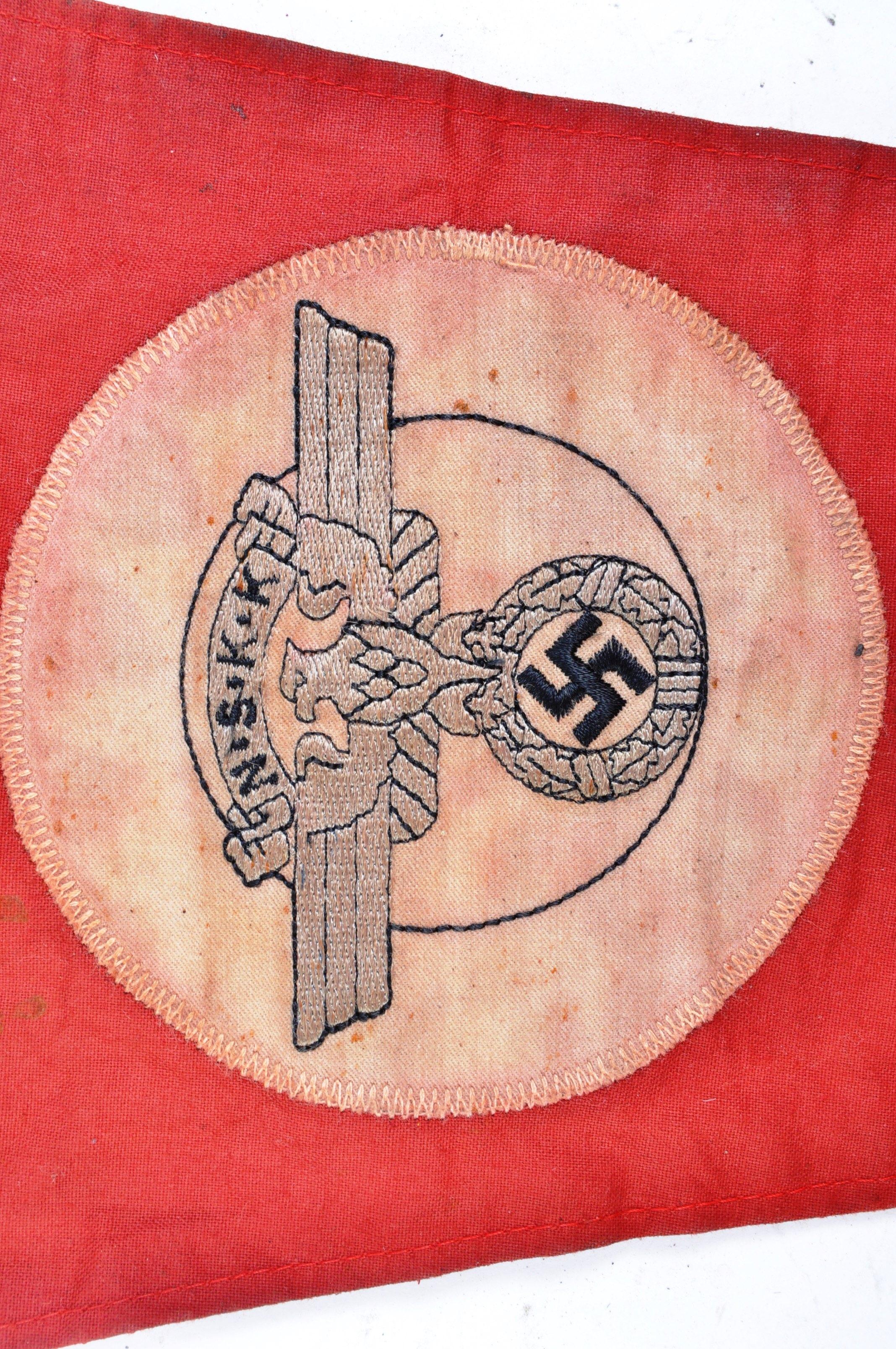 WWII SECOND WORLD WAR GERMAN THIRD REICH VEHICLE PENNANT - Image 4 of 5