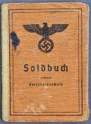 ORIGINAL WWII SECOND WORLD WAR NAZI THIRD REICH SOLDIER'S SOLDBUCH