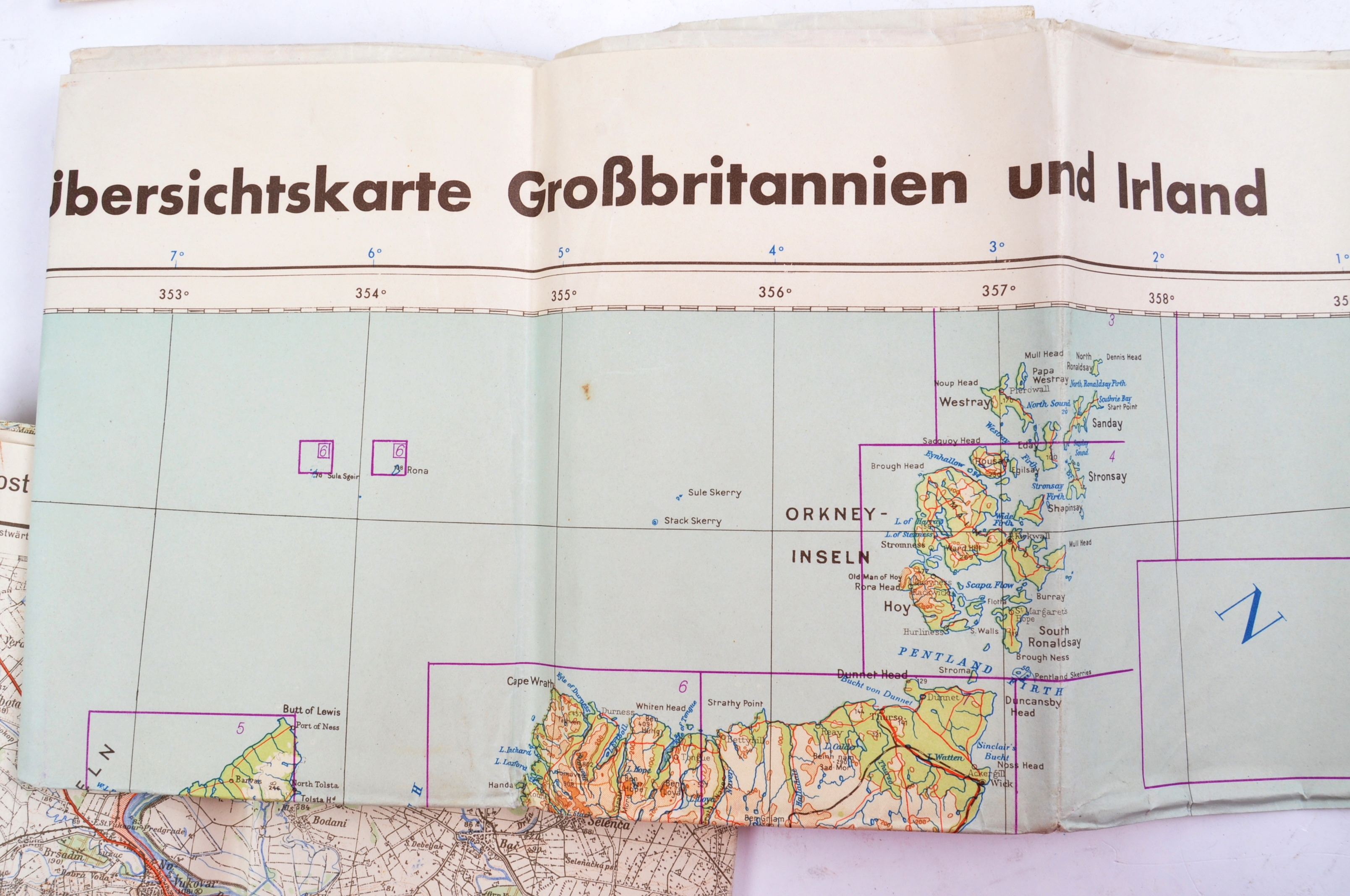 COLLECTION OF X6 ASSORTED WWII GERMAN ARMY MAPS - Image 4 of 10
