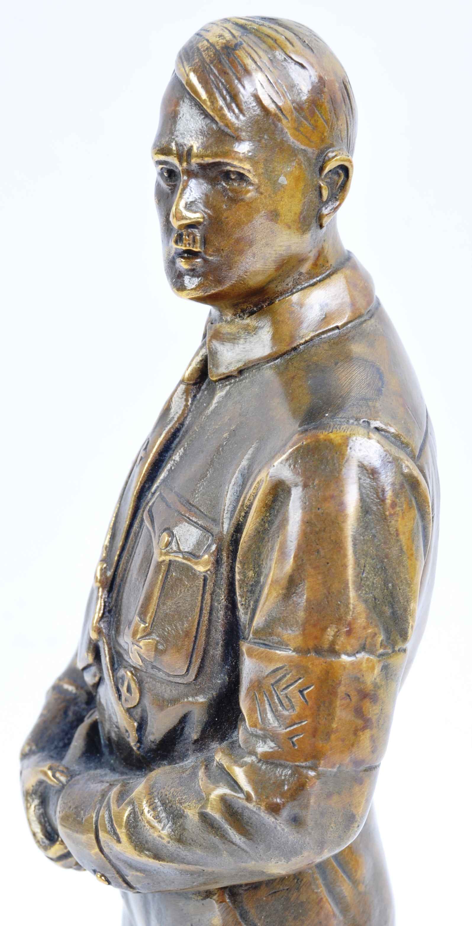 WWII SECOND WORLD WAR INTEREST - BRONZE STATUE OF ADOLF HITLER - Image 5 of 6
